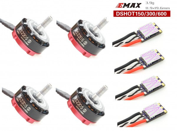 Emax Set 4x RS2205s 2300kv + 4x Bullet 30A ESC