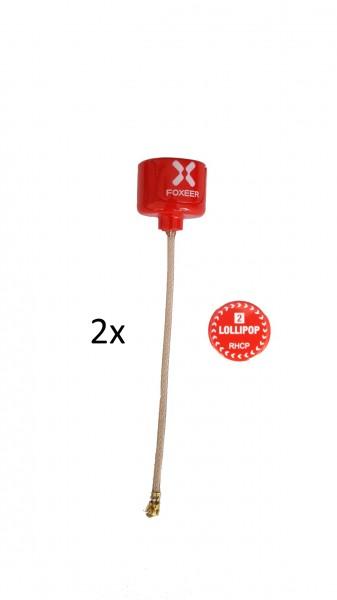 Foxeer Lollipop V2 RHCP 2x U.FL ROT
