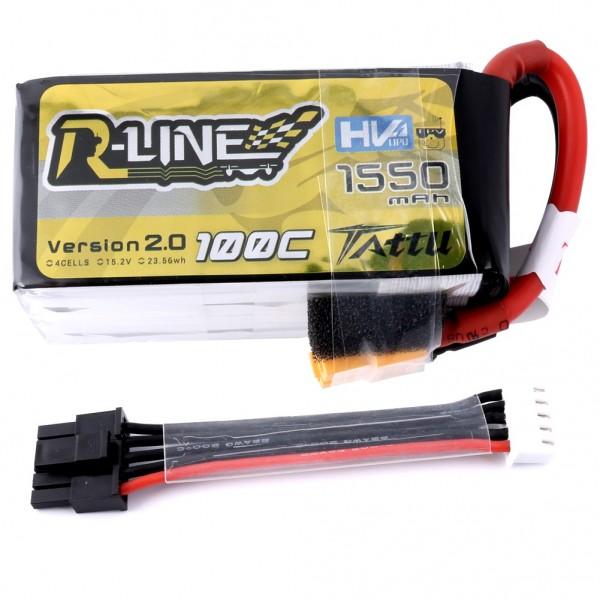 Tattu R-Line 1550mAh 100C HV 4S Lipo