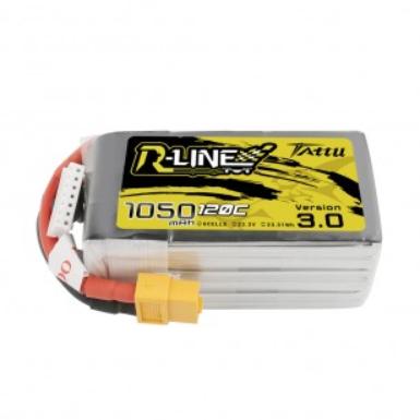 Tattu R-Line 1050mAh 120C 22.2V 6S1P Lipo