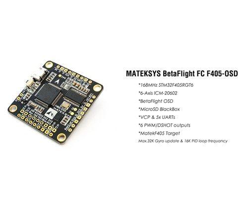Matek F405-OSD BetaFlight Control